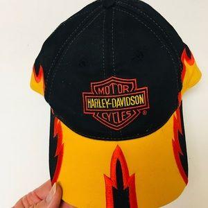 Hat Cap NEW  Harley Davidson Flame  Rare
